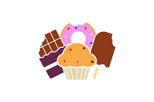 Sweets glyph color icon