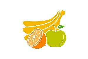 Fruits glyph color icon