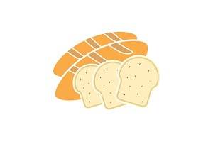 Bread glyph color icon