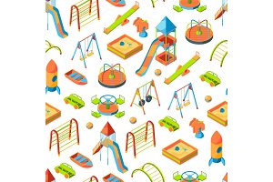 Vector isometric playground objects