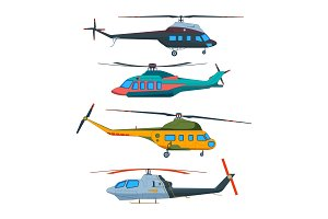 Helicopter Aviation. Helicopters