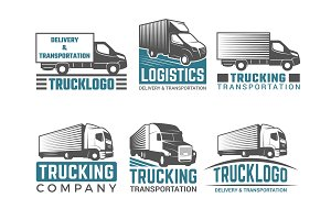 Truck logo. Business symbols emblems