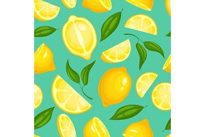 Lemon pattern. Lemonade exotic