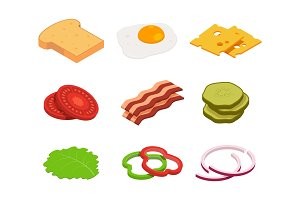 Sandwich isometric. Constructor of