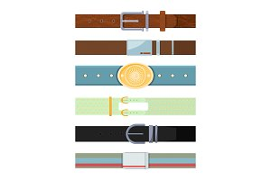 Leather belt. Various cartoon