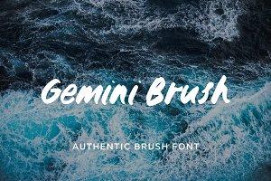Gemini brush typeface