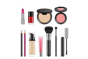 Cosmetics for women. Vector pictures