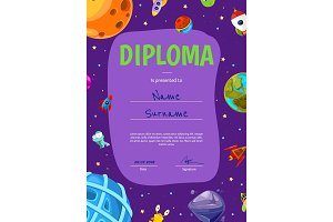 Vector children diploma or