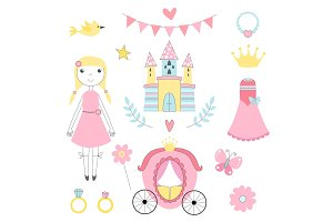 Fairy tale pictures of princess and