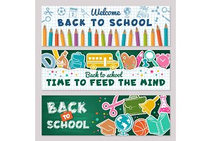 School banners. Vector illustrations