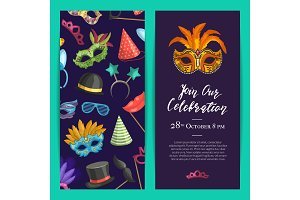 Vector party invitation template