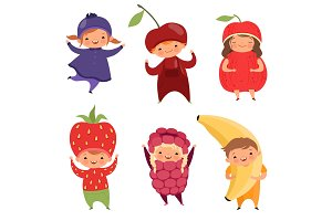 Fruits costumes. Carnival clothes