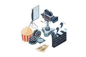 Production of video. Vector