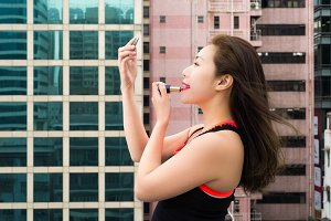 Lips, Red and Rooftop