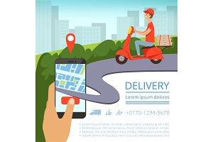 Order delivery online. Shipment