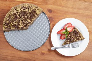 Chocolate cacke plate