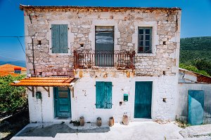 Abandoned Mediterranean house on the