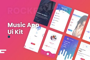 Rockr - Music App UI Kit