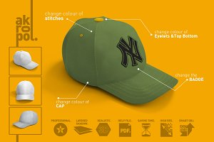 Baseball Cap Mock Up