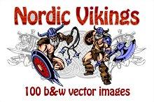 Vikings - 100 vector images