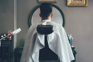 Male customer at the barbershop