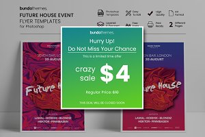 60%OFF Future House Event Flyer