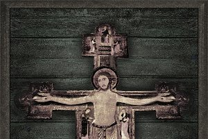 Medieval Style Jesus Christ on Cross