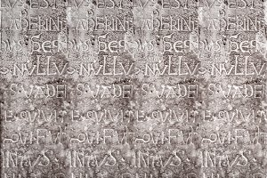 Old Carved Letters Pattern