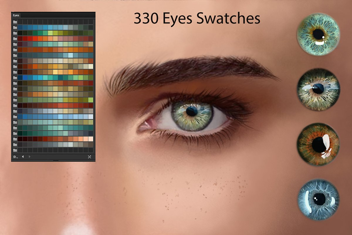 Eyes Ai Swatches for DigitalPainting
