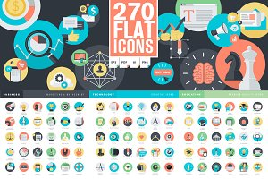 Set of Flat Design Icons