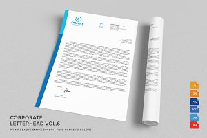 Corporate Letterhead 6 with MS Word