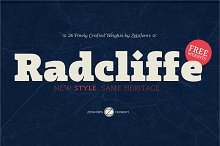 Radcliffe - Intro Promo 70% by  in Serif Fonts