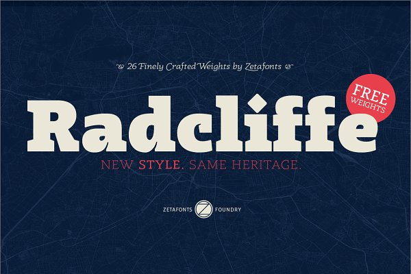 Serif Fonts: Zetafonts - Radcliffe - Intro Promo 70%