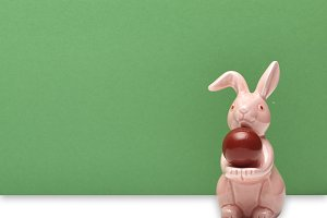 Easter origami rabbit pink