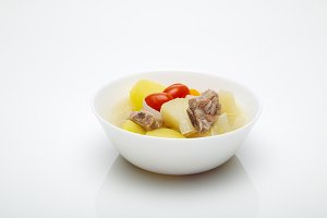 Pork soup with vegetables