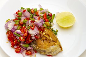 Spicy Deep Fried Salted Fish