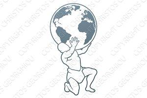 Atlas Titan Holding Globe Concept