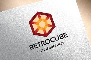Retro Cube Logo