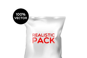White polyethylene closed bag