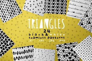 Triangles, 24 abstract patterns