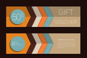 Color gift voucher template