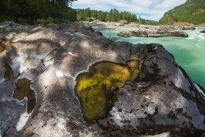 Nature baths on the Katun river