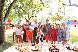 Family celebration or a garden party