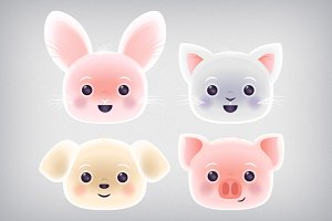 Cute Kawaii Pets Clip Art