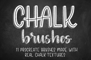 11 Chalk Brushes for Procreate