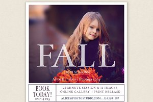 Fall Mini Session Marketing Board