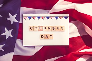 Beautiful Greeting Card on Columbus