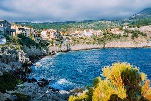 Picturesque coastline in Assos