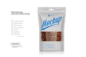 White Paper Bag Doypack Mock-up