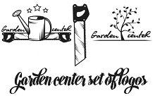 Garden center set of logos